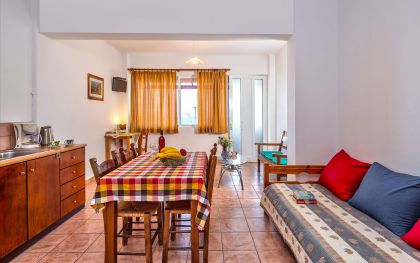 Dina Apartments, Almyrida, Open plan living room in apartment C
