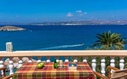 Dina Apartments, Almirída, Furnished sea view balcony