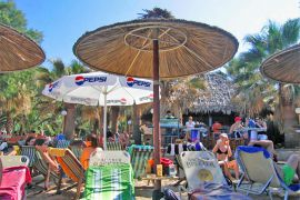 Agia Marina beach bars