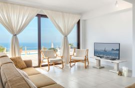 Anemomilos Villas, Agia Pelagia, open plan living room 2