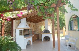 Villa Athina, Stalos, barbecue area 1