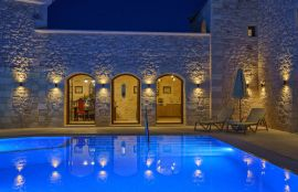 Villa Castle, Asteri, pool area night I