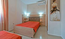 Villa Grigoria, Agia Marina, bedroom double and single ground floor