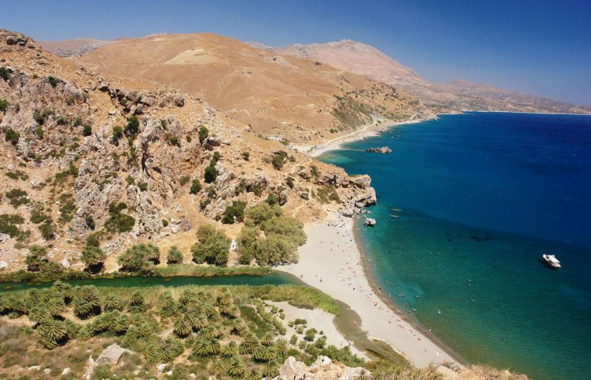 Excursions from Rethymno, Rethymno town, Preveli Palm beach