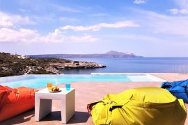 Villa Thea, Almirida, sea view pool 2