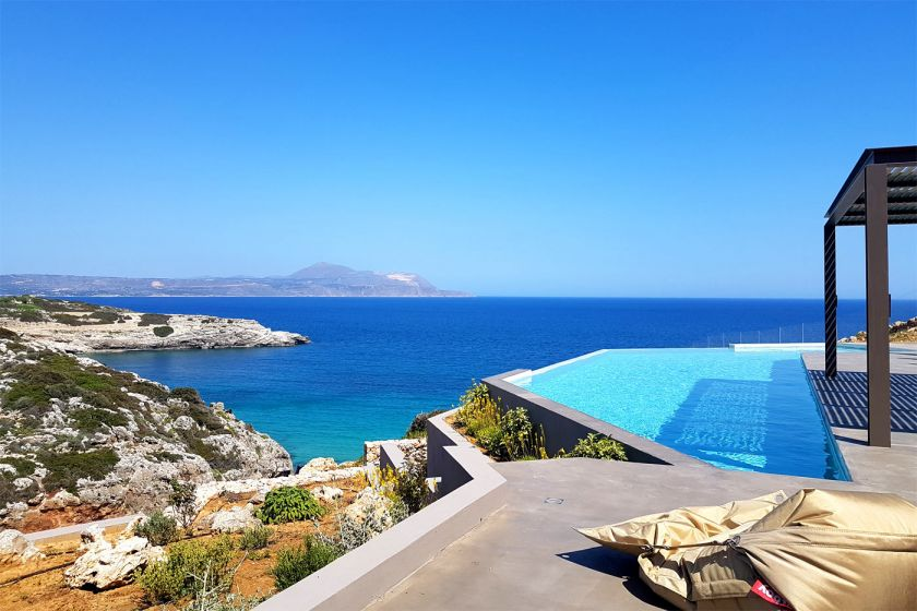 Villa Thea, Almirida, sea view pool 3