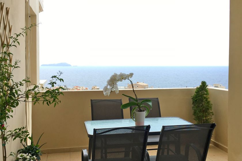 Comfortable Apartment, Chania (staden), sea view balcony 1
