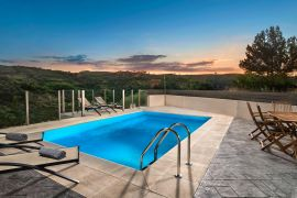Nature Inspired Villa, Maleme, sunset by the pool 2