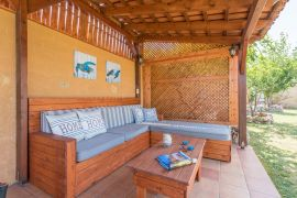 Villa Colorful, Agia Marina, exterior sitting area 1
