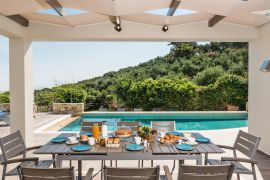 Villa Perfection, Maleme, dining area near the pool 2