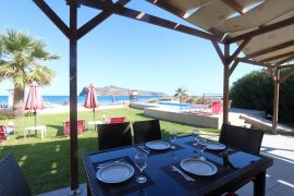 Seafront House, Agia Marina, outdoor dining table 1