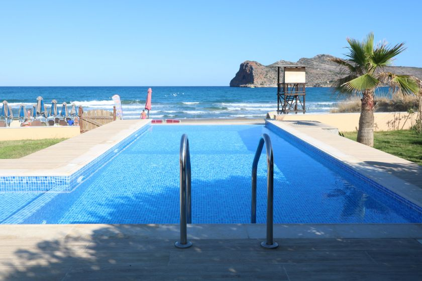 Seafront House, Agia Marina, private pool area 1