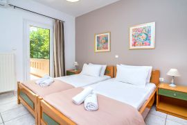 Aptera Beach Apartment, Chrissi Akti, bedroom twin 2a