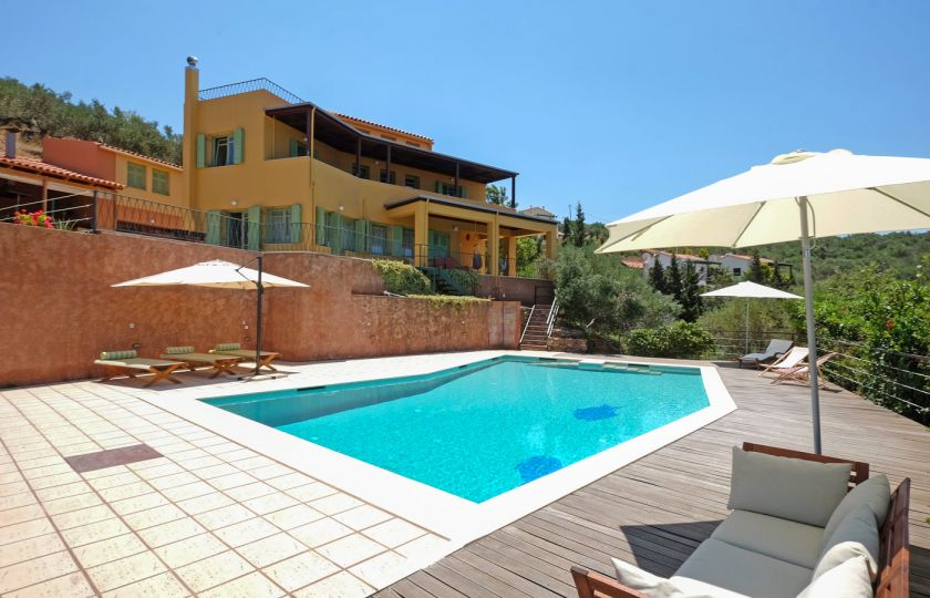 Great Nature Villa, Kolimvari, villa pool area 1a