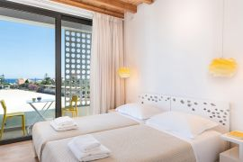 Fos Villa, Galatas, bedroom twin 3c