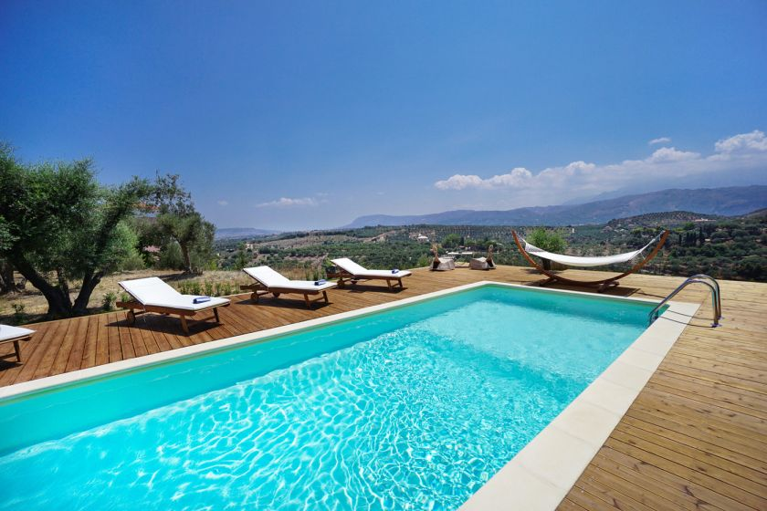 Villa Manousos, Stalos, swimming pool 2