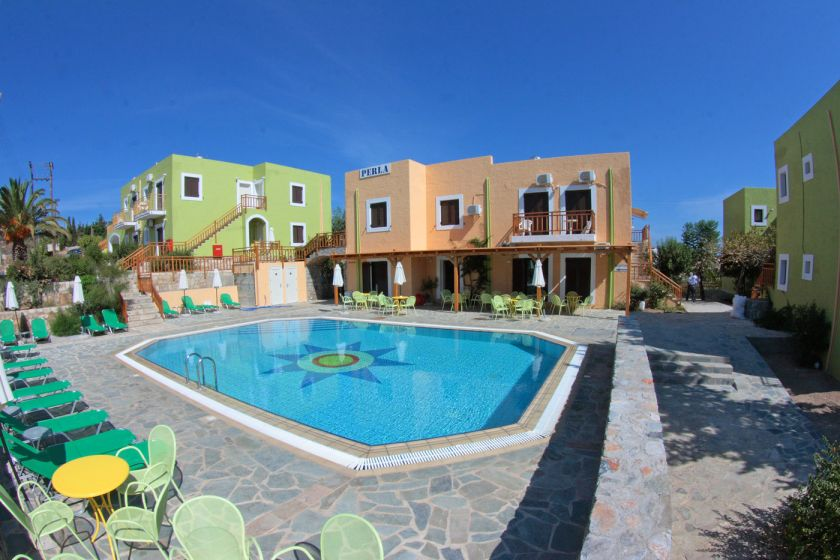 Perla Apartments, Agia Pelagia, pool area 2