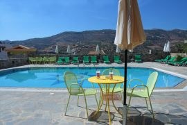Perla Apartments, Agia Pelagia, pool mountain view 3