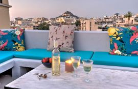 Plaka Residence, Plaka, rooftop evening view