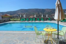 2-bedroom Perla Apartments, Agia Pelagia, pool mountain view 2