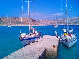 Sailing Boats, Chania town, sailing boats balos