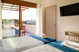 Panorea Villa, Agia Marina, bedroom twin 3a