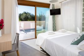 Urban Villa, Agia Marina, bedroom double 1b panorea