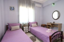 Happy Apartment, Chania town, bedroom with twin beds