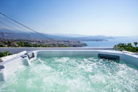 Rooftop Jacuzzi Apartment, Chania town, jacuzzi 7