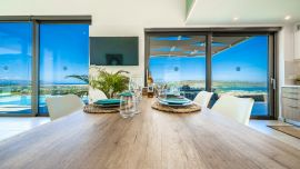 Villa Infinity View, Nerokoúros, dining table