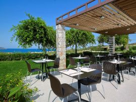 Eleftheria Hotel, Agia Marina, outdoors dining area 2