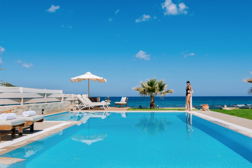 Beachfront Villa, Hersonissos, pool 3