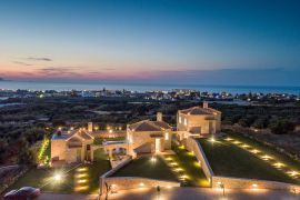 Villa Rosemary, Hersonissos, aerial view sunset