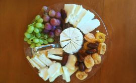 Local Cook, Chania, cheese plate and fruits