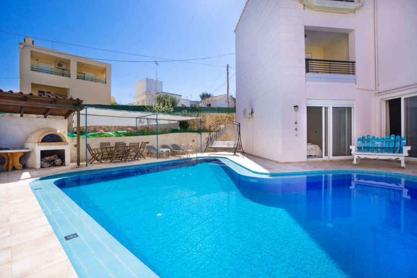 Spacious Villa, Agios Onoufrios, pool area 2
