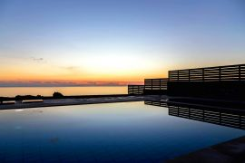 Villa Anatoli, Triopetra, villa Anatoli pool during sunset